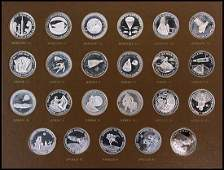 1131: 1961-70 SILVER 'MEN IN SPACE' MEDALLIONS