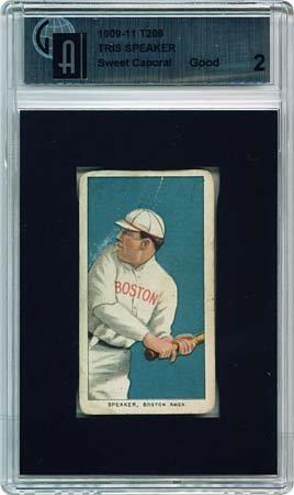 7: T206 WHITE BORDER TRIS SPEAKER ROOKIE CARD