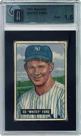 11: 1951 BOWMAN #1 WHITEY FORD ROOKIE CARD (GAI 1.5)