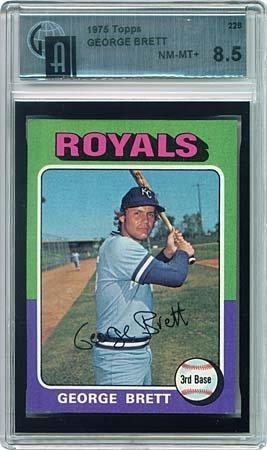 19: TOPPS #228 GEORGE BRETT ROOKIE CARD (GAI 8.5)