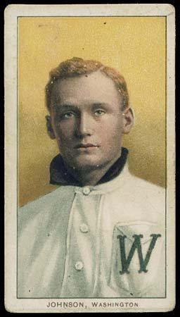 20: 1909-11 T206 WHITE BORDER WALTER JOHNSON