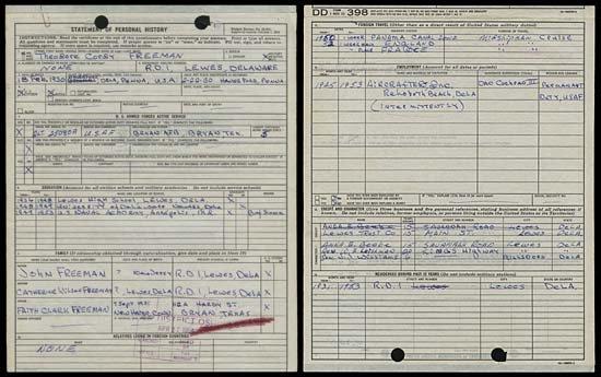 6: 1954 TED FREEMAN AUTOGRAPH