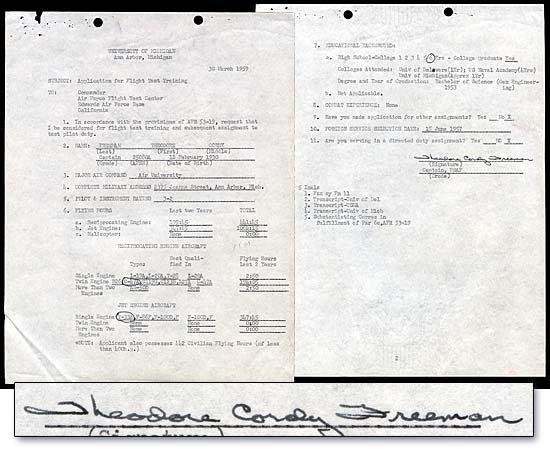 7: 1959 TED FREEMAN AUTOGRAPH