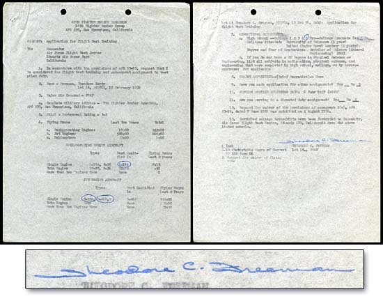 8: c.1959 TED FREEMAN AUTOGRAPH