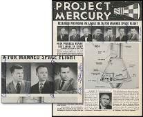196: c.1959 MERCURY 7 ASTRONAUTS AUTOGRAPHS COMPLETE