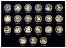 431: c.1969 MEN IN SPACE SILVER MEDALLION SERIES