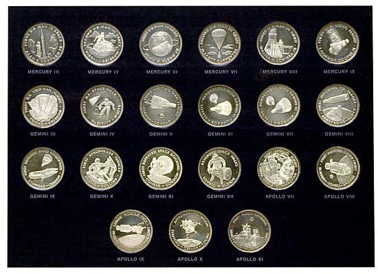 431: c.1969 MEN IN SPACE SILVER MEDALLION SERIES