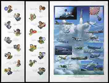 721: 1987 GATHERING OF EAGLES LITHOS & AUTOGRAPHS