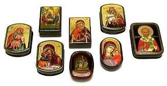 1048 2000s RELIGIOUS ICON RUSSIAN LACQUER BOXES