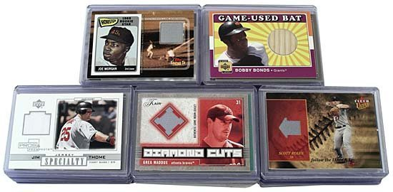 6: 60 GAME-USED OR -WORN BASEBALL 'SWATCH' CARDS