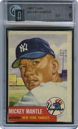 16: 1953 TOPPS #82 MICKEY MANTLE (GAI 5 EX)