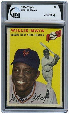 24: 1954 TOPPS #90 WILLIE MAYS (GAI 4 VGEX)