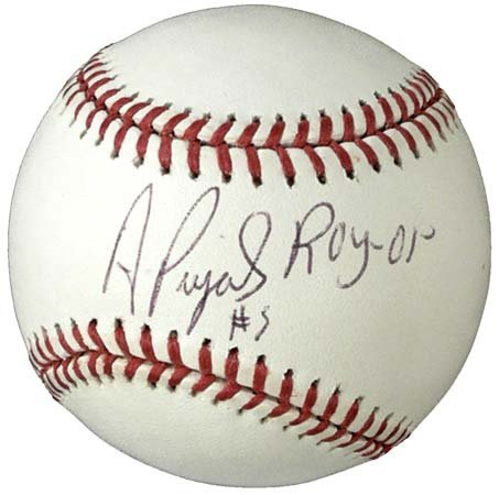 118: ALBERT PUJOLS 'ROOKIE OF THE YEAR' SIGNED BALL