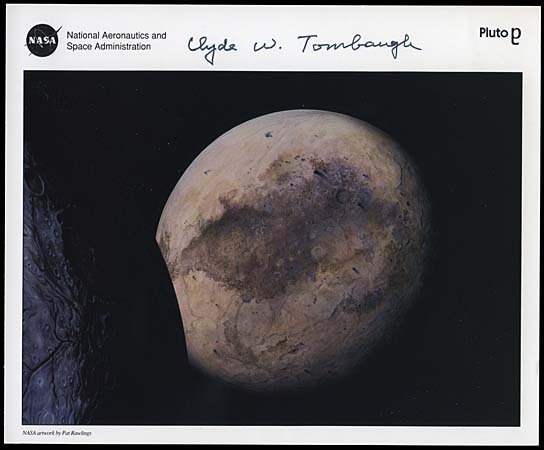1980: 1994 CLYDE W. TOMBAUGH AUTOGRAPHED LITHO
