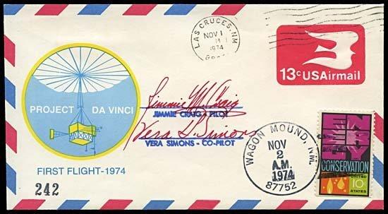 1985: 1974 PROJECT DA VINCI FLOWN & SIGNED FFC