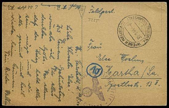 1999: 1944 VIENNA NEUSTADT 'FEUERWERKSANSTALT' CARD