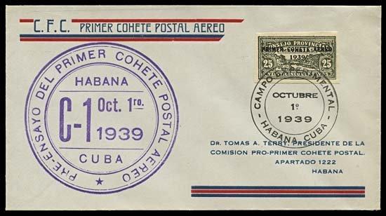 2000: 1939 HAVANA ROCKET COVER