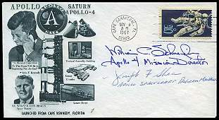 2253: 1967 EARLY APOLLO PROGRAM SIGNED COVERS