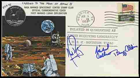 2302: 1969 FLOWN COVER CARRIED TO THE MOON