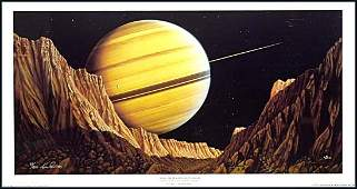 3076: c.1970-90s KIM POOR SPACE ART