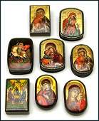 3374 c2000 RELIGIOUS ICON RUSSIAN LACQUER BOXES