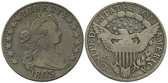 3692: 1803 USA HALF DRAPED BUST