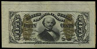 4009: 1864-69 SPINNER 50¢ THIRD ISSUE, SPECIMENS