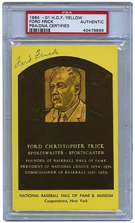 1: HALL-OF-FAME PLAQUE CARDS, SIGNED & UNSIGNED