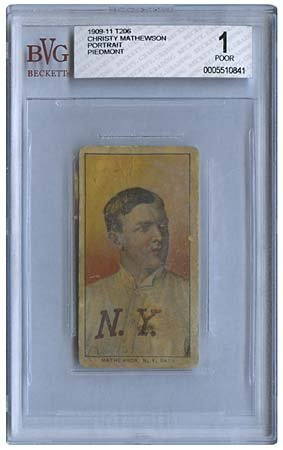 6: 1909-11 T206 CHRISTY MATHEWSON PORTRAIT (BVG 1)