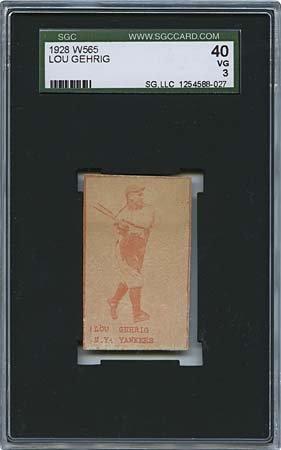 8: 1928 W565 LOU GEHRIG & HARRY HEILMANN 'MOVIE CARDS'