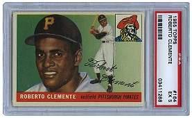 14: 1955 TOPPS #164 ROBERTO CLEMENTE RC (PSA 5 EX)