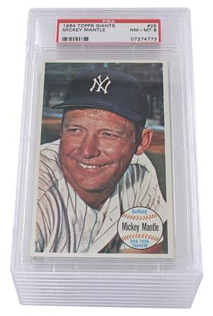 18: 1964 TOPPS GIANTS #25 MICKEY MANTLE (x10)