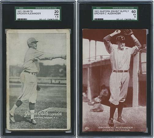 20: 1921-51 GROVER CLEVELAND ALEXANDER CARDS
