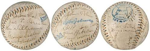 89: 1922 ST LOUIS BROWNS TEAM-SIGNED BASEBALL