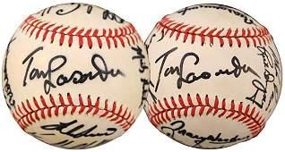 198: 1988 WORLD SERIES DODGERS TEAM-SIGNED BALLS