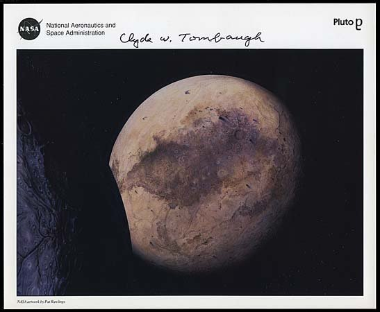 2: CLYDE W. TOMBAUGH AUTOGRAPHED LITHO