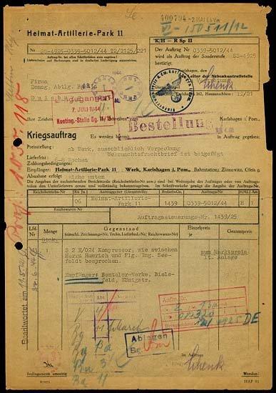 9: 1944 GERMAN V2 ROCKETS HAP 11 DOCUMENT