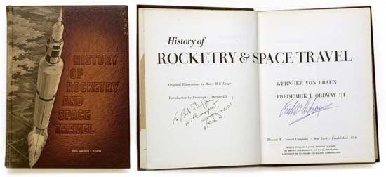 18: 1966 SIGNED 'HISTORY OF ROCKETRY & SPACE TRAVEL'