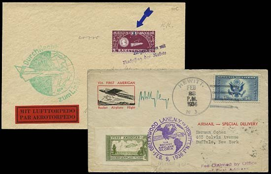 19: 1930s-70s ROCKET COVER & STAMP COLLECTION