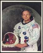 206: 1969 NEIL ARMSTRONG SIGNED LITHO APOLLO 11