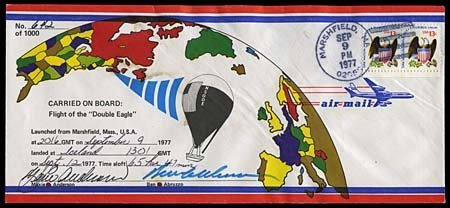 9: 1977 BALLOONS 'DOUBLE EAGLE' FLIGHT COVER