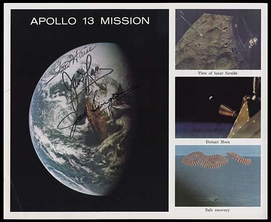 186: 1970   APOLLO 13 CREW SIGNED LITHO