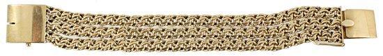 1527: LADIES GOLD BRACELET 18K & GOLD CHAIN NECKLACE