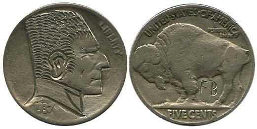 1533: 1930s USA HOBO NICKELS
