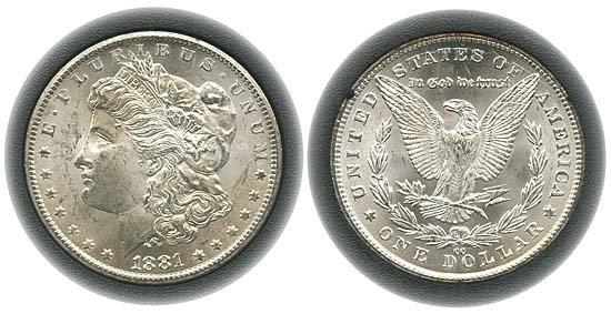 1540: 1881 USA GSA HOLDER WITH 1881CC MORGAN DOLLAR
