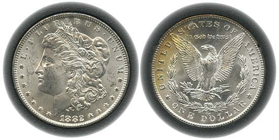 1541: 1882 USA GSA HOLDER WITH 1882CC MORGAN DOLLAR