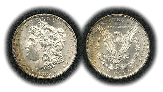 1542: 1883 USA MORGAN 1883CC SILVER DOLLAR IN GSA BOX