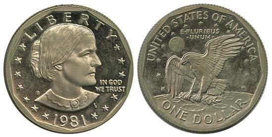 1546: 1979 & 1981 USA ANTHONY PROOF DOLLARS TYPE II