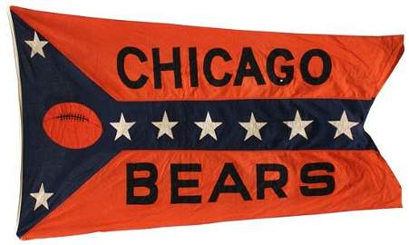1677: WRIGLEY FIELD CHICAGO BEARS FLOWN FLAG