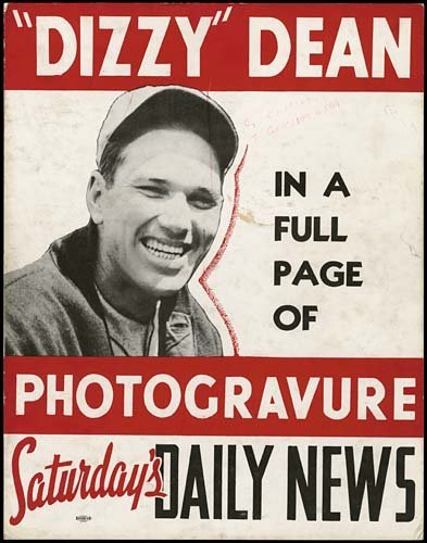 1804: DAILY NEWS BROADSIDE DISPLAY WITH DIZZY DEAN